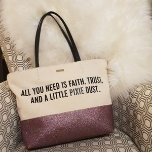 Kate Spade × Disney Parks Glitter Canvas Tote